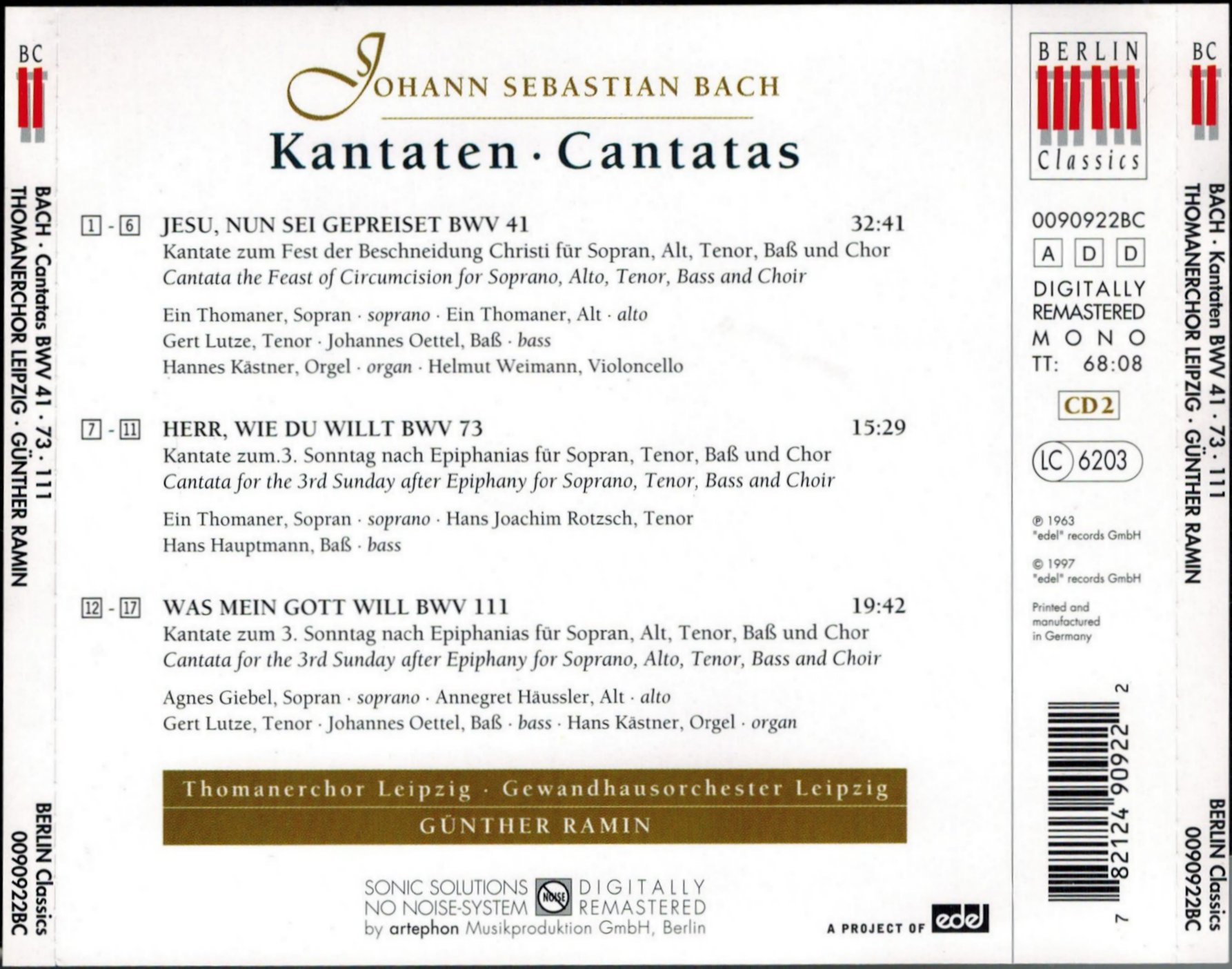 Cantata Bwv 41 Details Discography Part 1 Complete Recordings